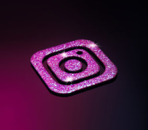 Логотип instagramm с блёстками